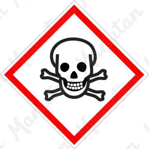 GHS figyelmeztető táblák - Toxikus 06