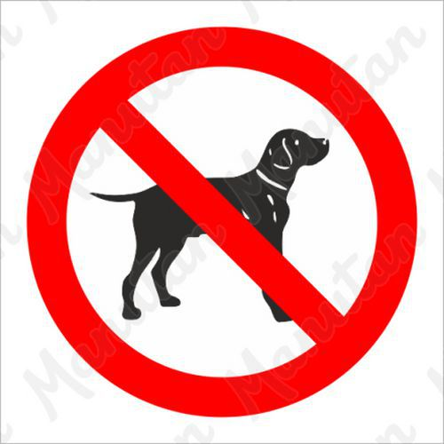 Tiltó táblák - Kutyával belépni tilos
