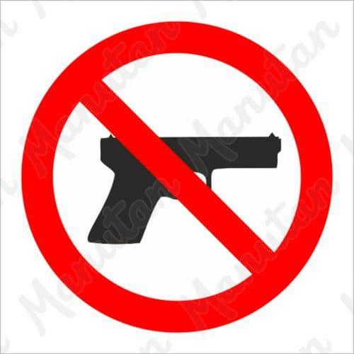 Tiltó táblák - Fegyverrel belépni tilos