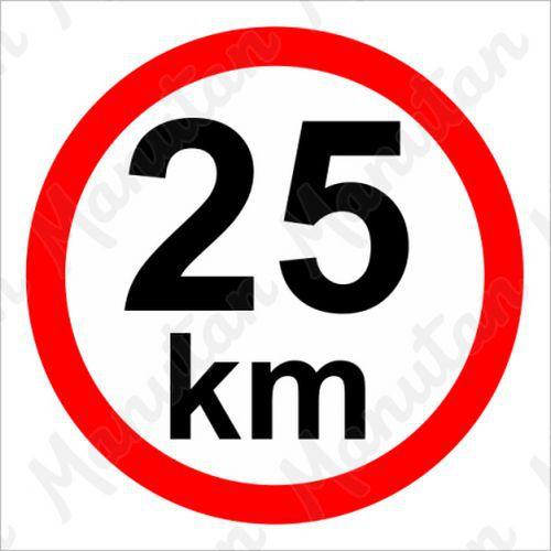 Munkavédelmi táblák - Sebességkorlátozás 25 km/h