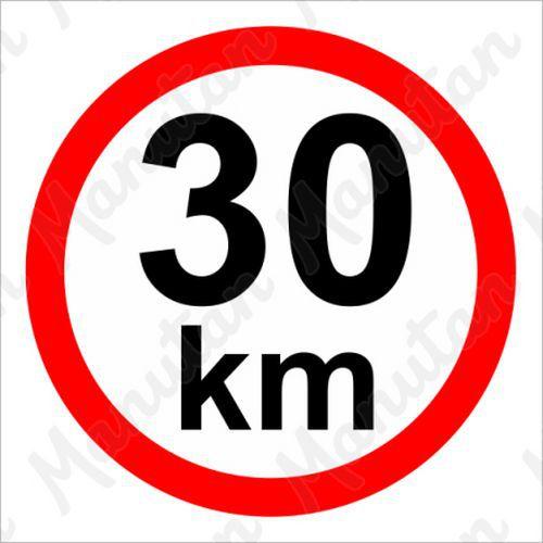Munkavédelmi táblák - Sebességkorlátozás 30 km/h