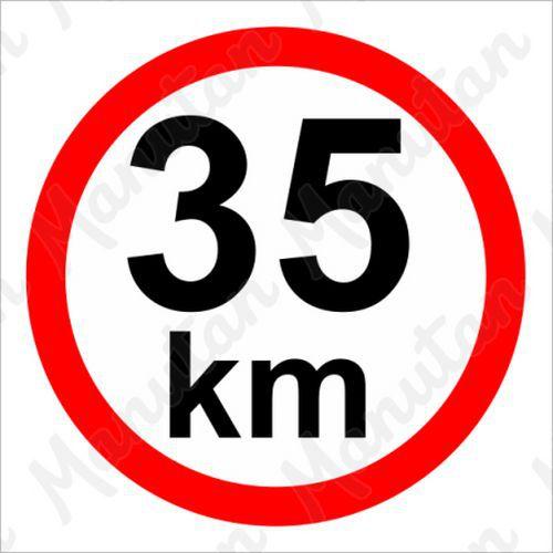 Munkavédelmi táblák - Sebességkorlátozás 35 km/h