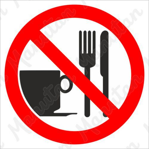Tiltó táblák - Ételt behozni tilos