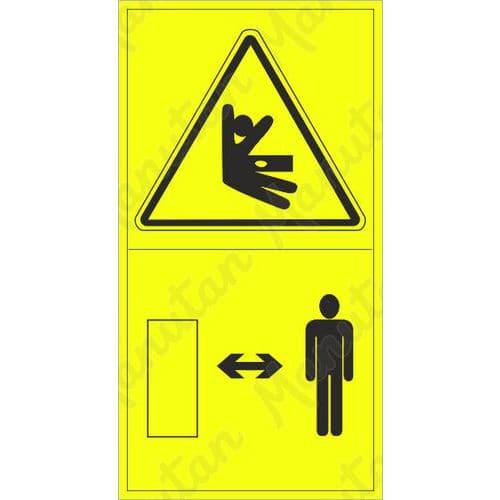 Figyelmeztető táblák - Oldalsó nyomás vagy ütközés veszélye