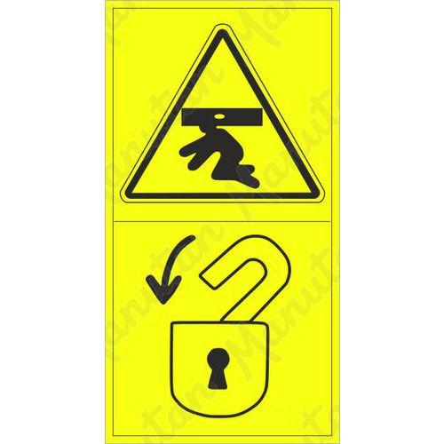 Figyelmeztető táblák - Egész test fentről történő összenyomásának veszélye