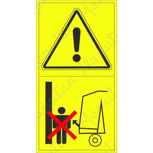 Figyelmeztető táblák - Ne lépjen a területre a gép nyitódása közben