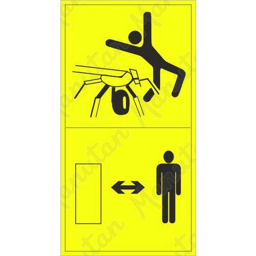 Figyelmeztető táblák - Tartsa be a megfelelő távolságot a forgó fűnyírótól