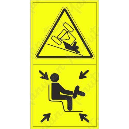 Figyelmeztető táblák - A gép felborulhat a lejtőn