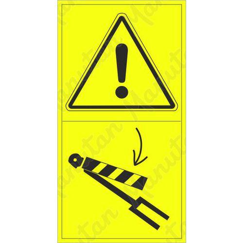Figyelmeztető táblák - Biztosítsa a lineáris hidraulikus motort süllyedés ellen