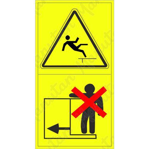 Figyelmeztető táblák - Magas helyről történő leesés lehetősége