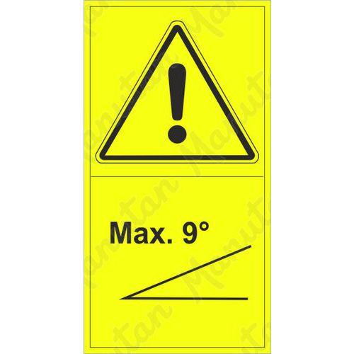 Figyelmeztető táblák - 9° lejtő