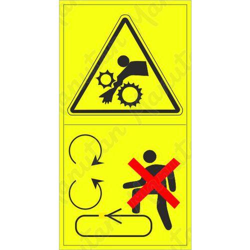 Figyelmeztető táblák - A karok behúzásának veszélye