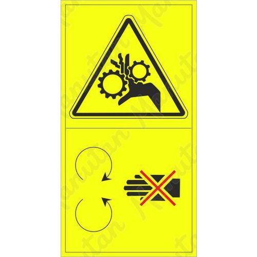 Figyelmeztető táblák - Ne nyúljon a forgó rész terébe