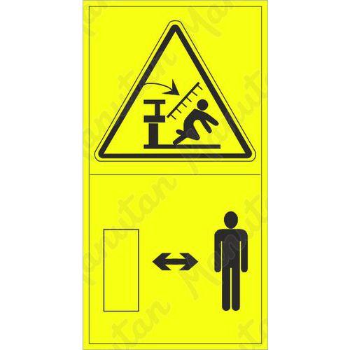 Figyelmeztető táblák - Sérülés veszélye a vetőgép leengedése közben