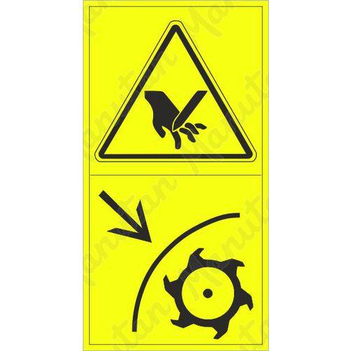 Figyelmeztető táblák - Tenyér vagy ujjak levágásának veszélye