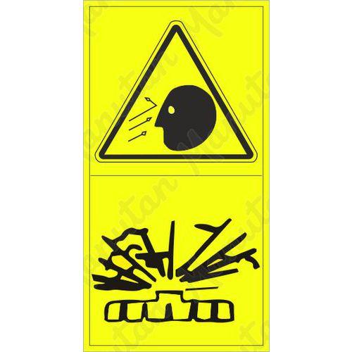 Figyelmeztető táblák - Repülő tárgy okozta arcsérülés veszélye