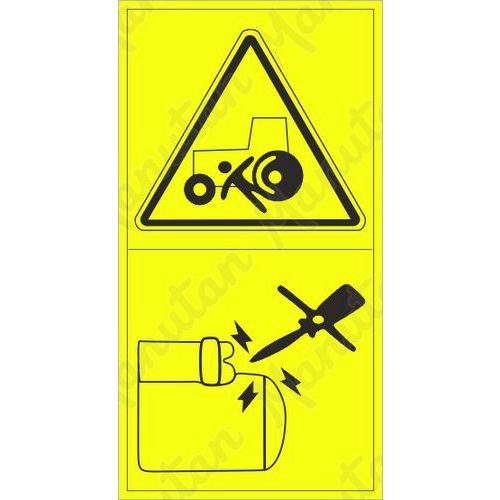 Figyelmeztető táblák - Géppel történő elütés veszélye