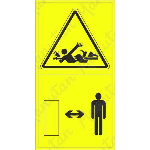 Figyelmeztető táblák - A forgó hajtótengelyre csavarodás veszélye
