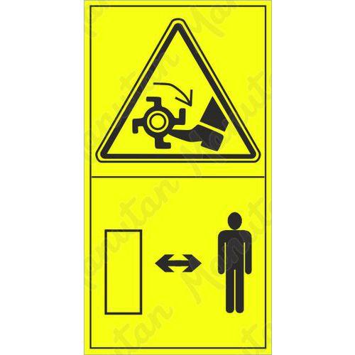 Figyelmeztető táblák - Rotációs kultivátorral történő láblevágás veszélye