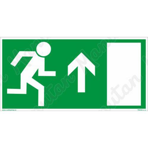 Biztonsági táblák, fotolumineszcens - Vészkijárat egyenesen