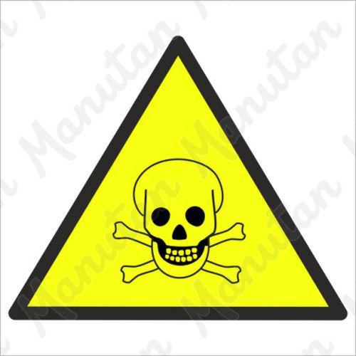 Figyelmeztető táblák - Vigyázat mérgező anyagok