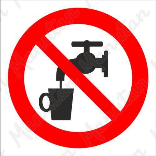 Tiltó táblák - Nem ivóvíz