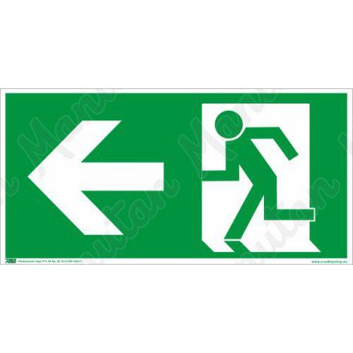 Biztonsági táblák, fotolumineszcens - Vészkijárat balra