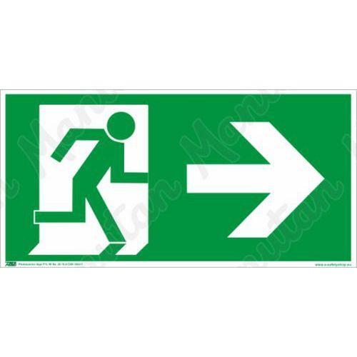 Biztonsági táblák, fotolumineszcens - Vészkijárat jobbra