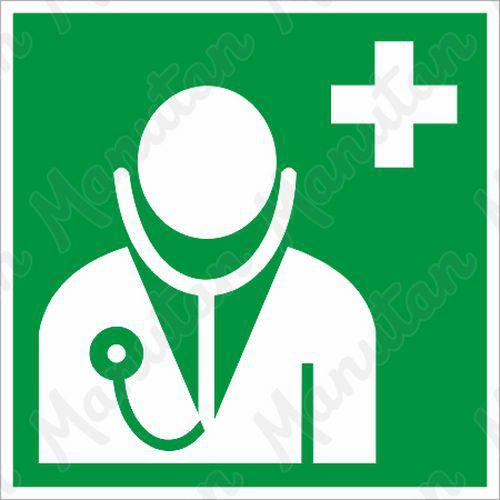 Biztonsági táblák - Orvos