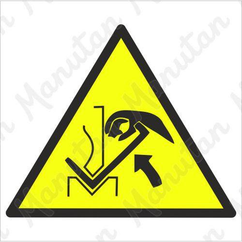 Figyelmeztető táblák - Présgép és anyag közötti kézsérülés veszélye