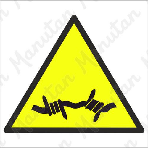 Figyelmeztető táblák - Szögesdrót