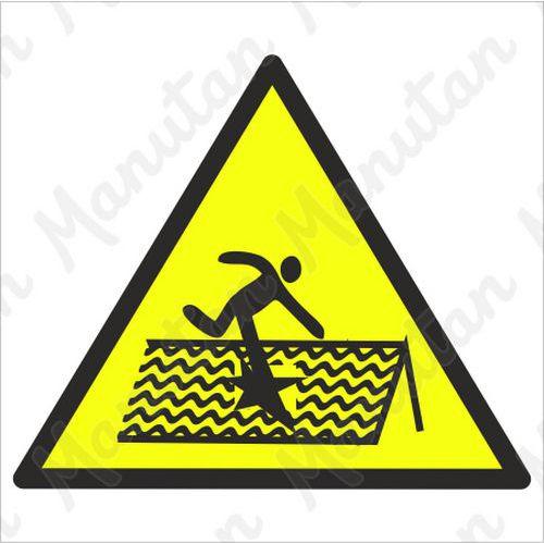 Figyelmeztető táblák - Fennáll a tető beszakadásának veszélye