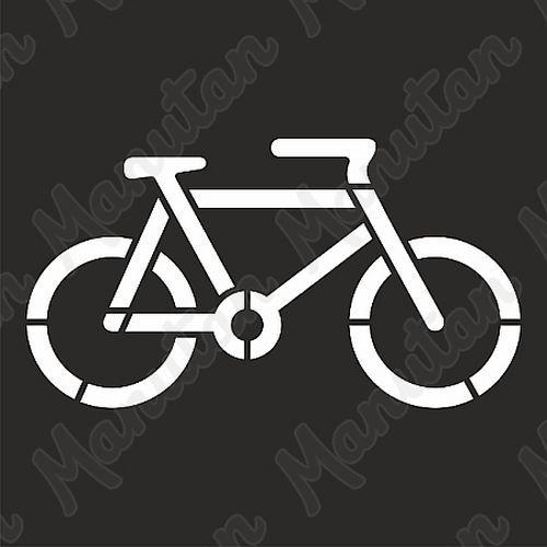 Vízszintes jelölés - kerékpár sablon
