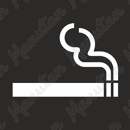 Vízszintes jelölés - cigaretta sablon