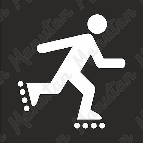 Vízszintes jelölés - korcsolyázó sablon