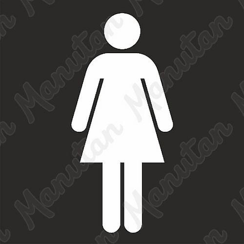 Vízszintes jelölés - női mosdók sablon