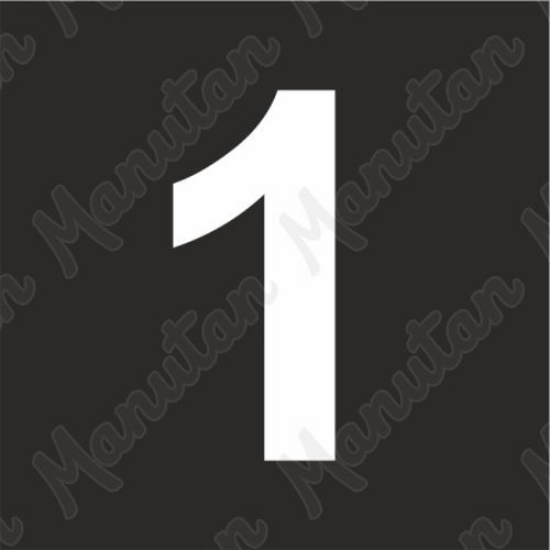 Vízszintes jelölés - 1 számjegy sablon