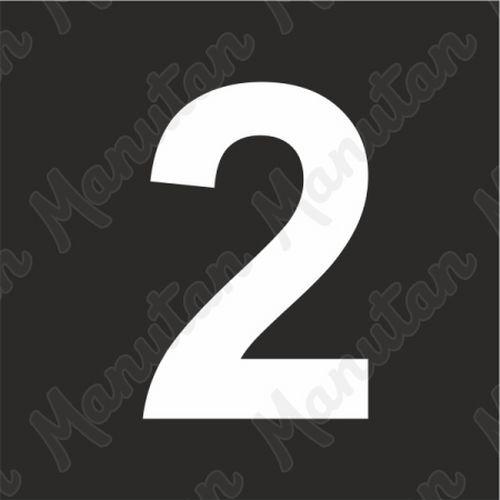 Vízszintes jelölés - 2 számjegy sablon