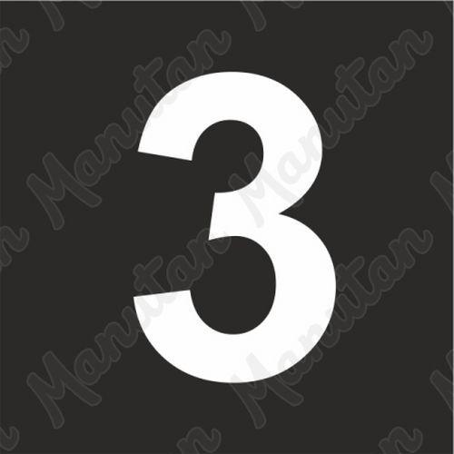 Vízszintes jelölés - 3 számjegy sablon
