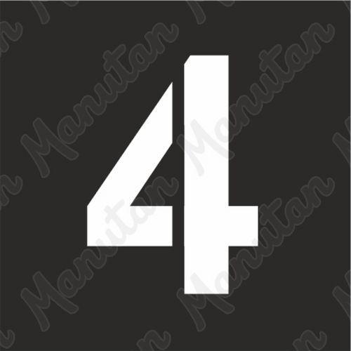 Vízszintes jelölés - 4 számjegy sablon