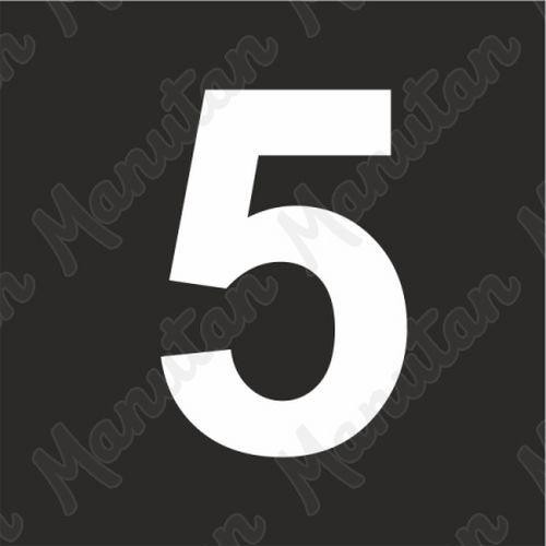 Vízszintes jelölés - 5 számjegy sablon