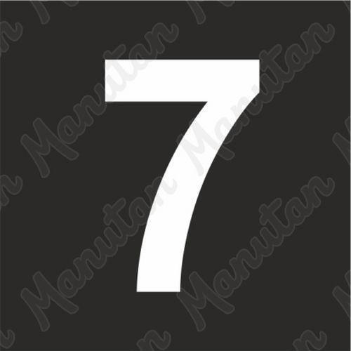 Vízszintes jelölés - 7 számjegy sablon