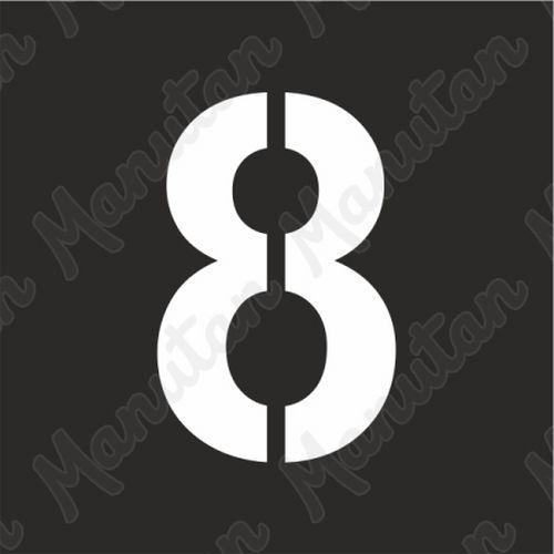 Vízszintes jelölés - 8 számjegy sablon
