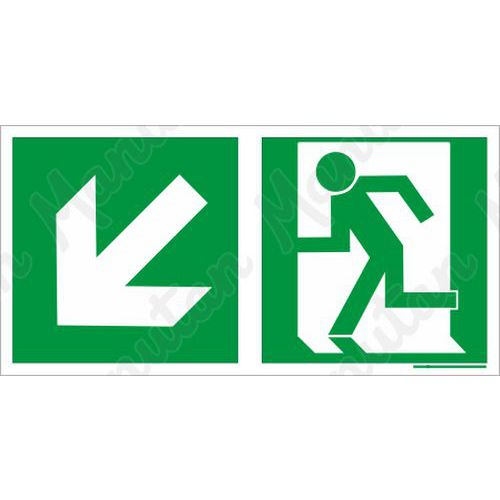 Biztonsági táblák, fotolumineszcens - Vészkijárat balra le