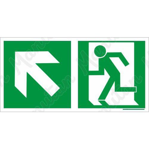 Biztonsági táblák, fotolumineszcens - Vészkijárat balra fel