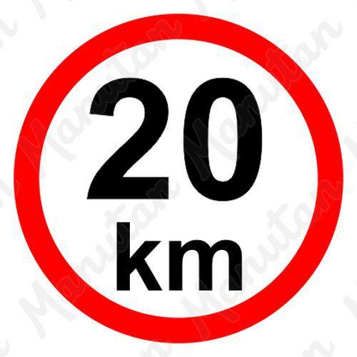 Munkavédelmi táblák - Sebességkorlátozás 20 km/h