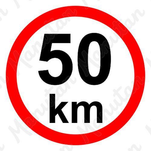 Munkavédelmi táblák - Sebességkorlátozás 50 km/h