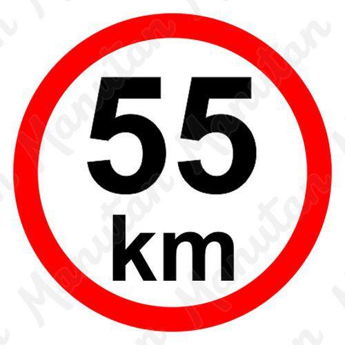 Munkavédelmi táblák - Sebességkorlátozás 55 km/h