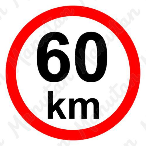Munkavédelmi táblák - Sebességkorlátozás 60 km/h