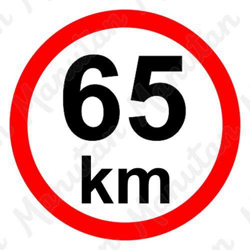 Munkavédelmi táblák - Sebességkorlátozás 65 km/h